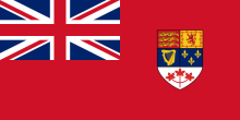 """Canadian Red Ensign 1957-1965"" by Denelson83, http://commons.wikimedia.org"