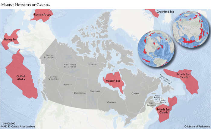 Climate Change Implications for Canadian Marine Fisheries and – Map of Canada Showing Ottawa