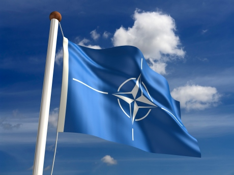3D Nato flag (with clipping path)